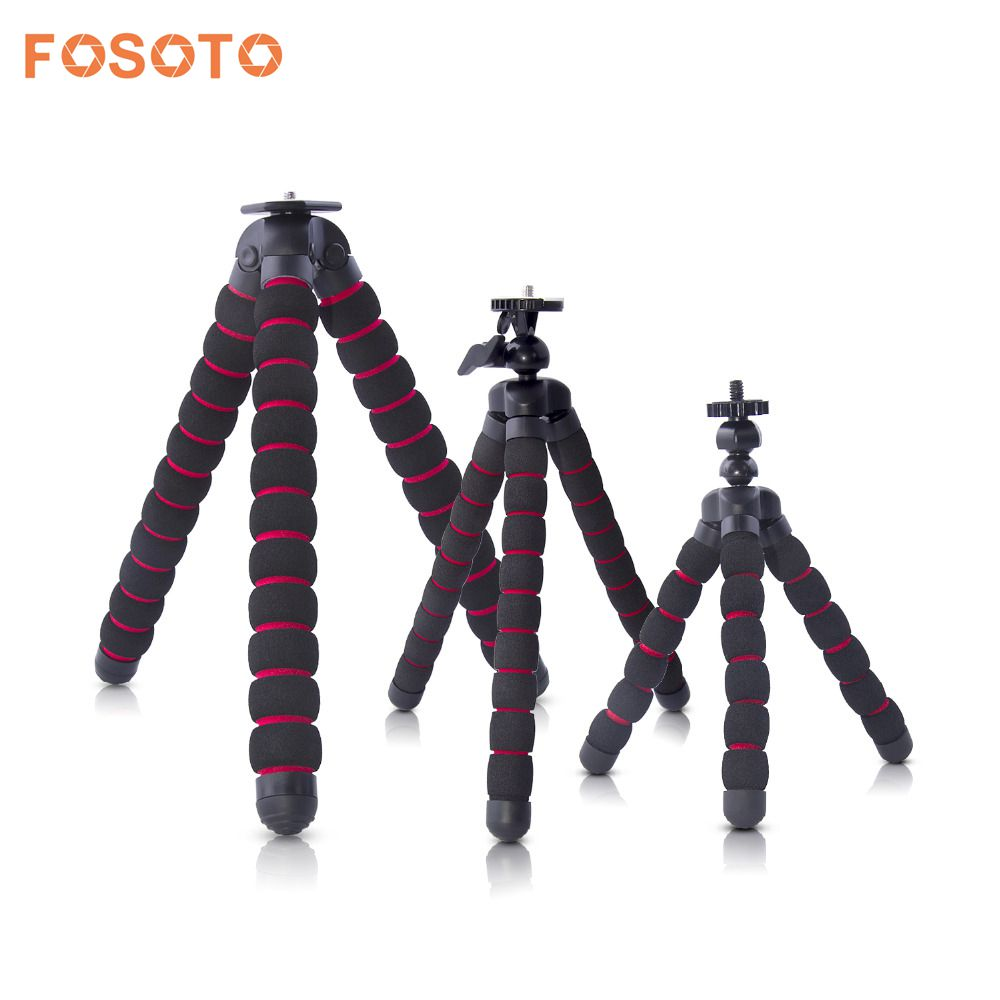 fosoto Octopus font b Tripods b font Stand Spider Flexible Mobile Mini font b Tripod b