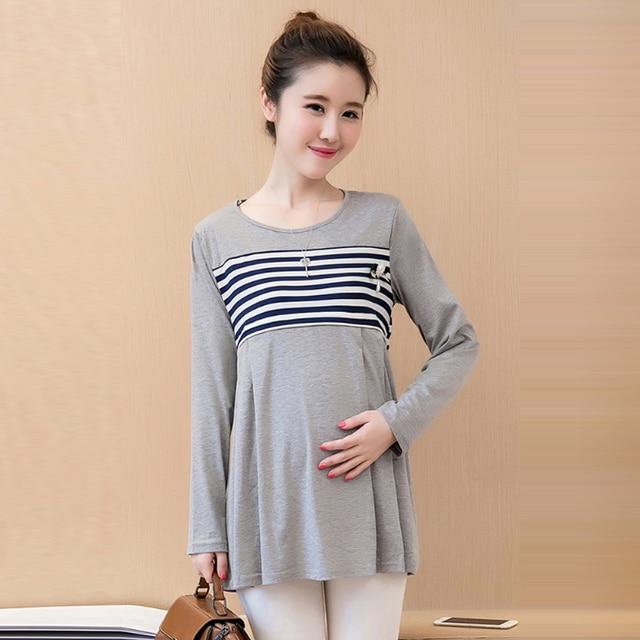 add316856d3b1 Korean Maternity Nursing T shirt Pregnancy Nurse Wear Blouse Shirt Dresses  Clothing Breastfeeding Top Tees Clothes For Pregnant
