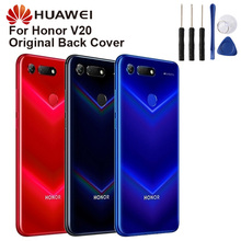 Huawei Original Back Battery Cover Housing For Huawei HonorV20 Honor V20  Battery Back Rear Glass Case huawei original back battery cover housing for huawei honor 8x honor8x battery back rear glass case
