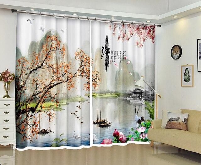 Chinois de luxe d rideau pour salon chambre décoratif rideaux