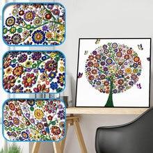 Sashiko Diamond Embroidery Winter Flower Tree Special Shaped 5d Painting Rhinestone Drill DIY Crystal