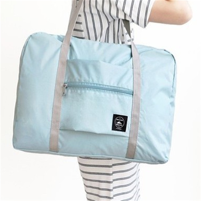 Portable Folding Tote Bags For Baby Mommy Sling Bags Single Shoulder Bag Luggage Shopping Clothing Shoes Diaper Book Nylon Solid