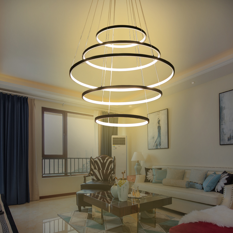 New Modern Led Chandeliers For Living Room Bedroom Circle Rings 5 4 3 2 Tiers Chandelier Lamp Fashion Home Led Lighting FixturesNew Modern Led Chandeliers For Living Room Bedroom Circle Rings 5 4 3 2 Tiers Chandelier Lamp Fashion Home Led Lighting Fixtures
