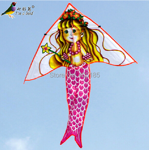 Free Shipping Outdoor Fun Sports The New Childrens Cartoon Kite For Beginners With Flying Tools