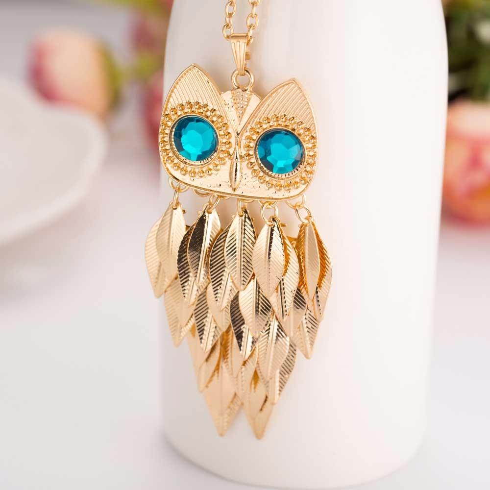 HTB1ZRZ4OXXXXXbkXpXXq6xXFXXXy - Gold Wise Owl Style Pendant