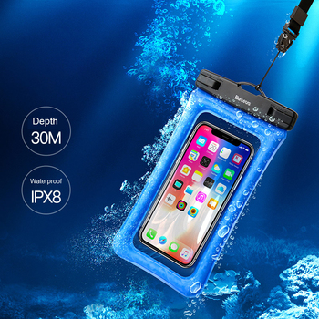 Baseus 6'' Universal IPX8 Waterproof Case For iPhone X 8 8 Plus 7 7 Plus 6 6s Plus Samsung S9 S8 Plus Waterproof Pouch Swimming  1