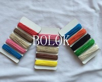 10packs/lot (400meters) 12 mix color colored waxed hemp twine 1mm twisted hemp rope for DIY Craft gift , bracelet Packing