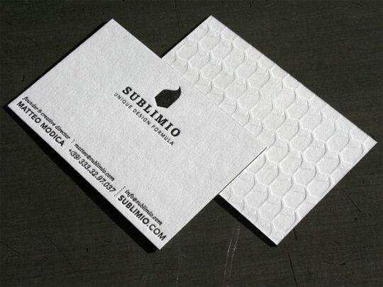Nouvelle Conception 600gsm Spcialit Papier Cartes De Visite Logo Personnalis Impression Debossing Texte Police Typographie 90 54 Mm Blanc Couleur