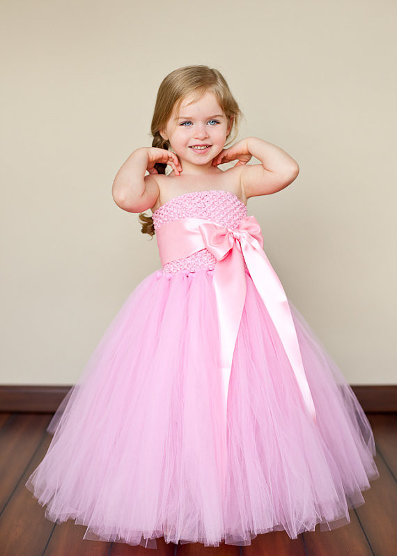 bridesmaid fluffy ball gown princess birthday purple tutu tulle baby ...