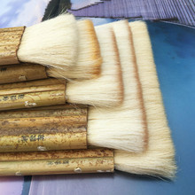 Soft Wool Brushes 6/10/20/24 Joint Brush Oil Paint Latex Paint Shading Painting and Calligraphy Mounting Bamboo Tube Broad Brush