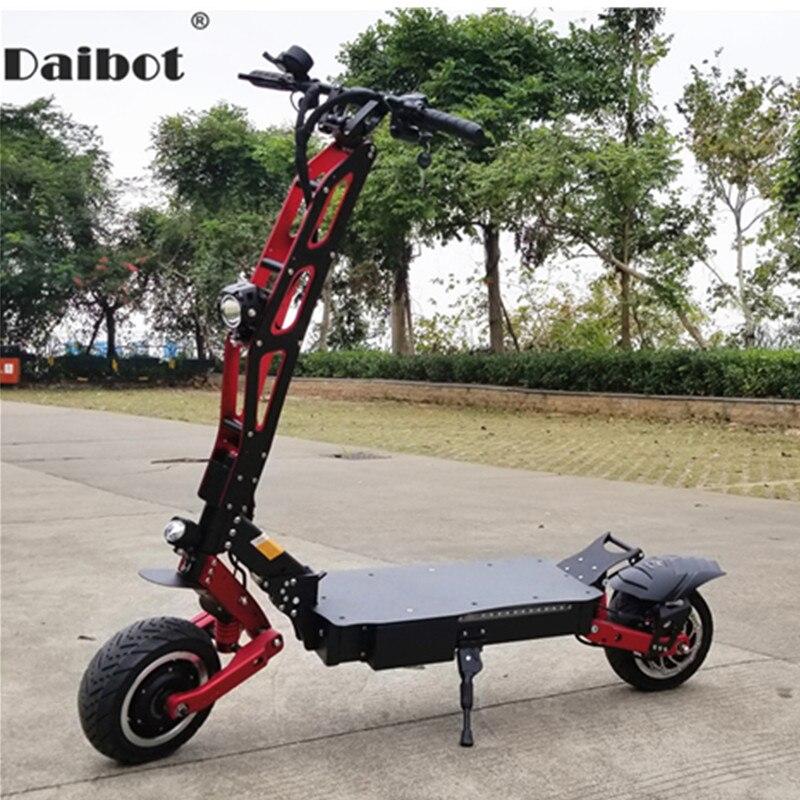 Daibot Adulte trottinette électrique 11 Pouces Deux Roues trottinette électrique s Moteur 3200 W 60 V 85 KM/H Pliant Hors Route skateboard électrique