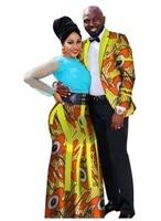 2018 new fashion style african couples suit (men shirts+women skirt) plus size cotton clothes M 6XL