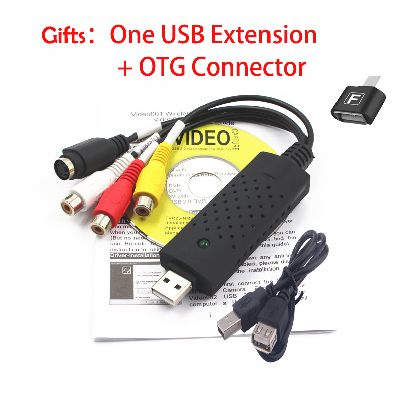 USB 2.0 HDMI to RCA OTG adapter Android converter Audio Video PC CableS TV DVD VHS capture device utv007 television connector