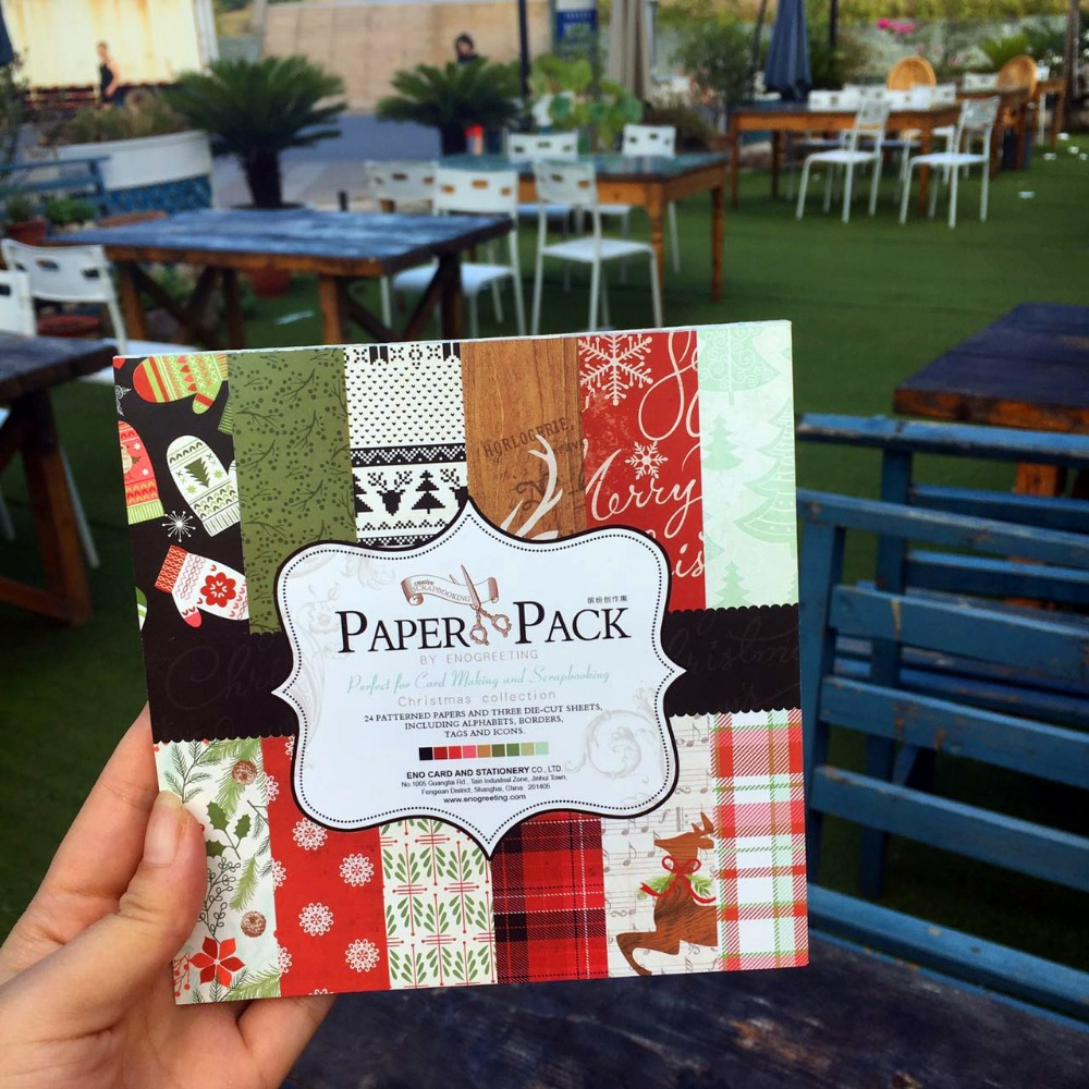 DIY Christmas Style Scrapbooking Paper Pack Of 24 Sheets Handmade Craft Paper Craft Background Pad A3