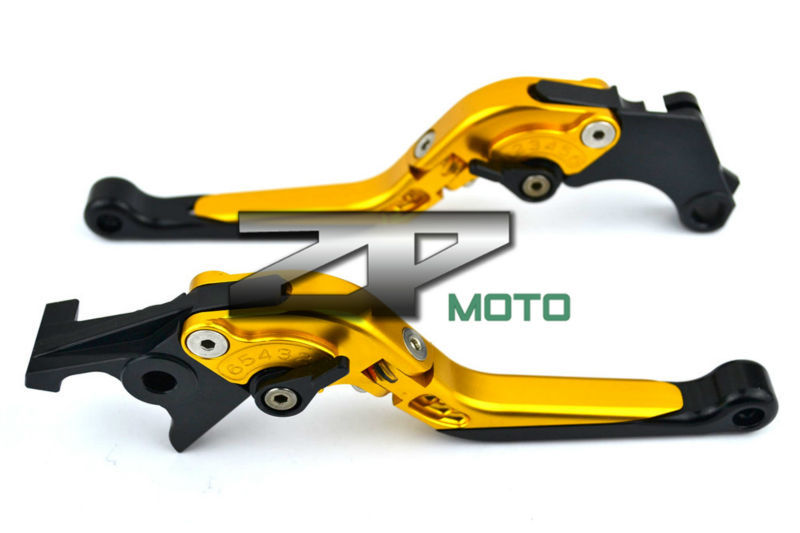 Adjustable Folding Extendable Brake Clutch Levers For Kawasaki ZX9R ZX10R ZX12R Z1000 Versys 1000 W800 8 Colors