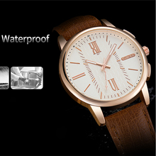 YAZOLE New wristwatch Male Luxury Brand Fashion Leather Band Analog Quartz Clock Business Mens Watches Relogio Masculino 2019