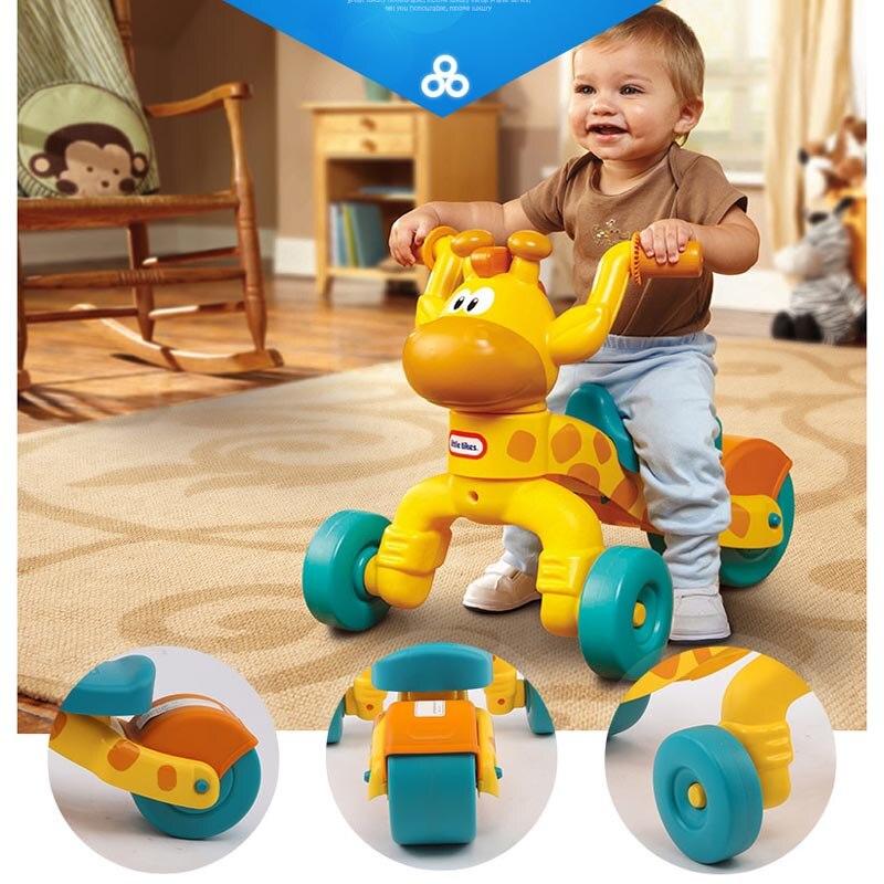 Petite girafe en plastique tike enfants tricycle marcheur, scooter bébé de haute qualité, tricycle enfants
