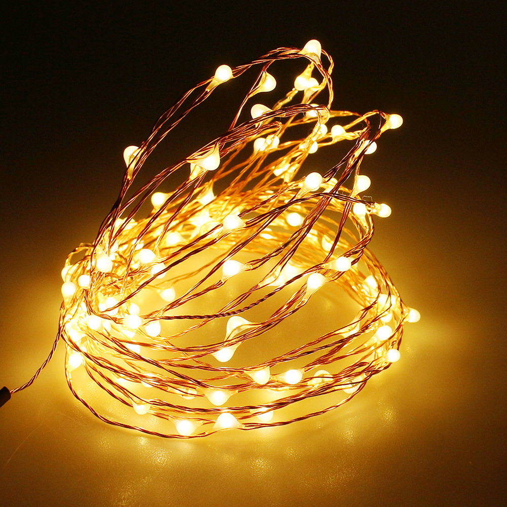 LEEDSUN 5m 100 LED string lights Copper Wire Fairy Lights Outdoor holiday/Christmas/Wedding/Party Decoration led lighting