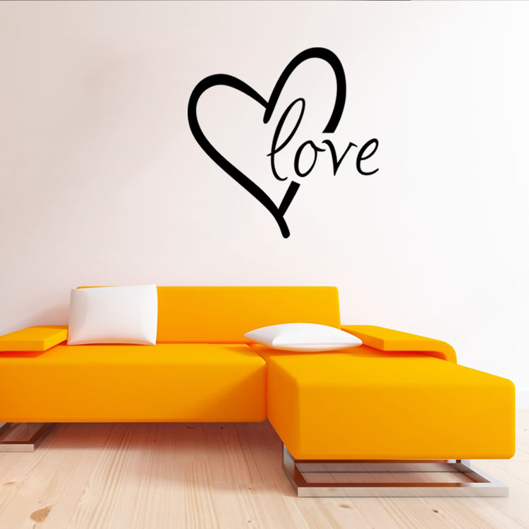 US $3.8 17% OFF|aw9509 Romantic Love Quotes Wall Decals Quote Decorations  Living Room Sticker Bedroom Wall stickers Couples Room Decoration-in Wall  ...