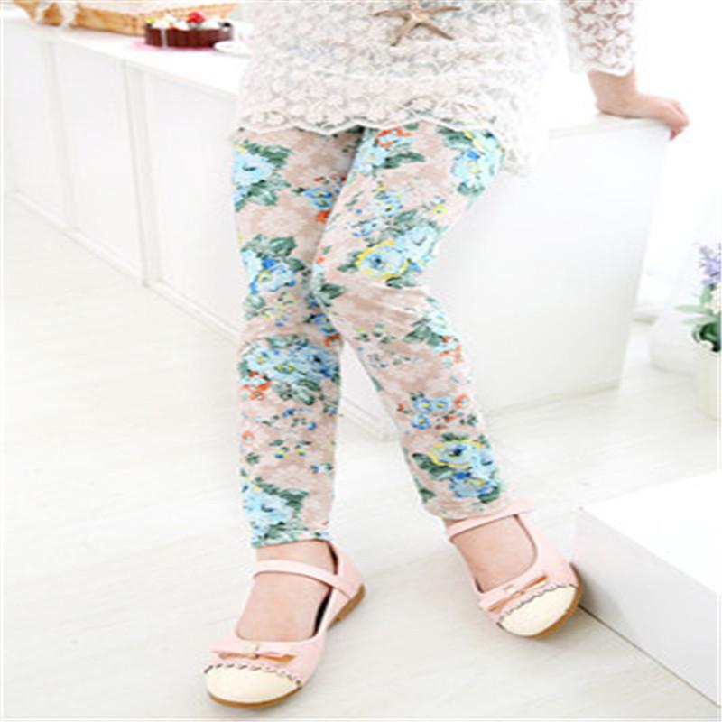 New Style Spring Autumn Children Leggings Flower Butterfly girls pants kids legging 20