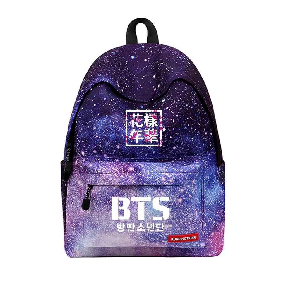 Kpop BTS Backpack New arrival Printing Women mochila Bangtan Boys Laptop bags travel kids school bag For 2018 Army Backpacks