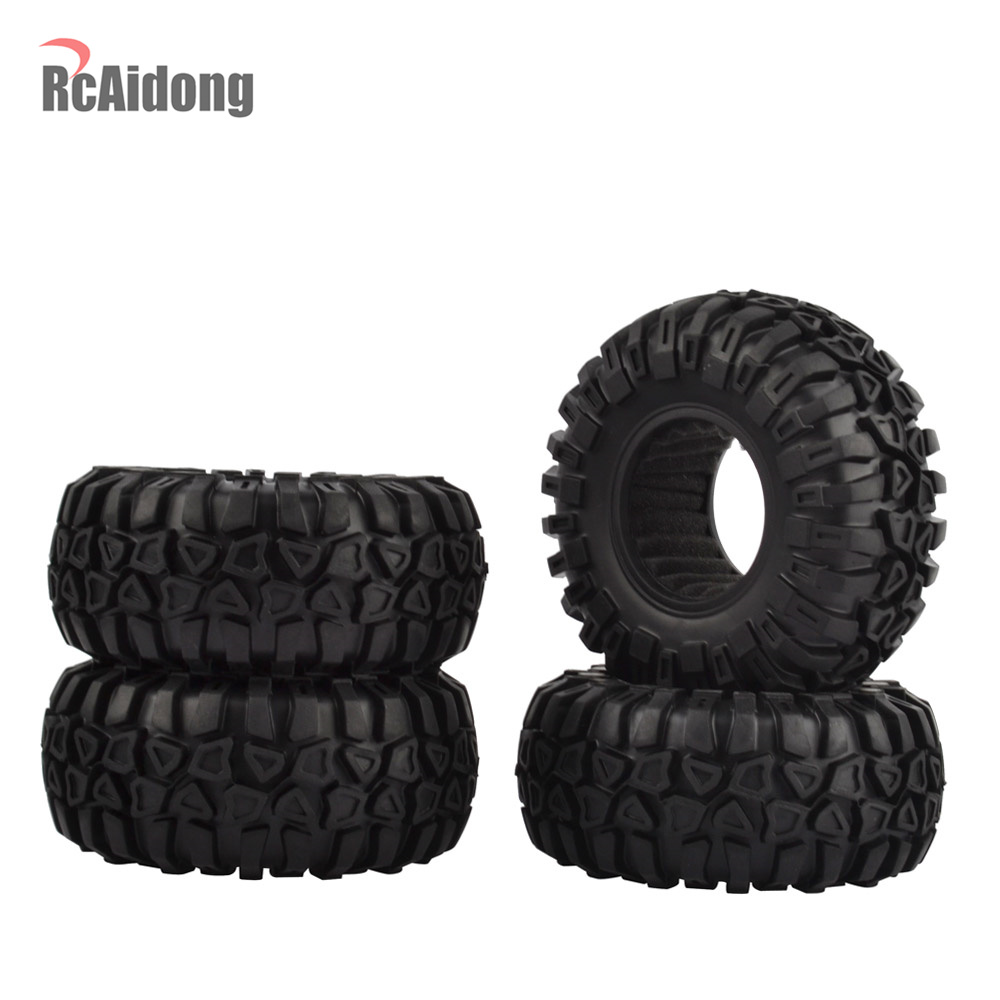 """4PCS 2.2"""" Rubber Tires/tyres for Axial SCX10 Wraith RR10"""