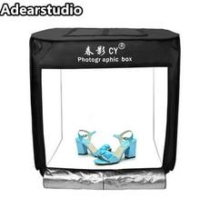 Portátil 3 PCS DIODO EMISSOR de luz 80×80 CM Estúdio de Fotografia suave caixa tiro Tenda Luz luz fotografia tenda + saco portátil + 3 Backdrops cd50
