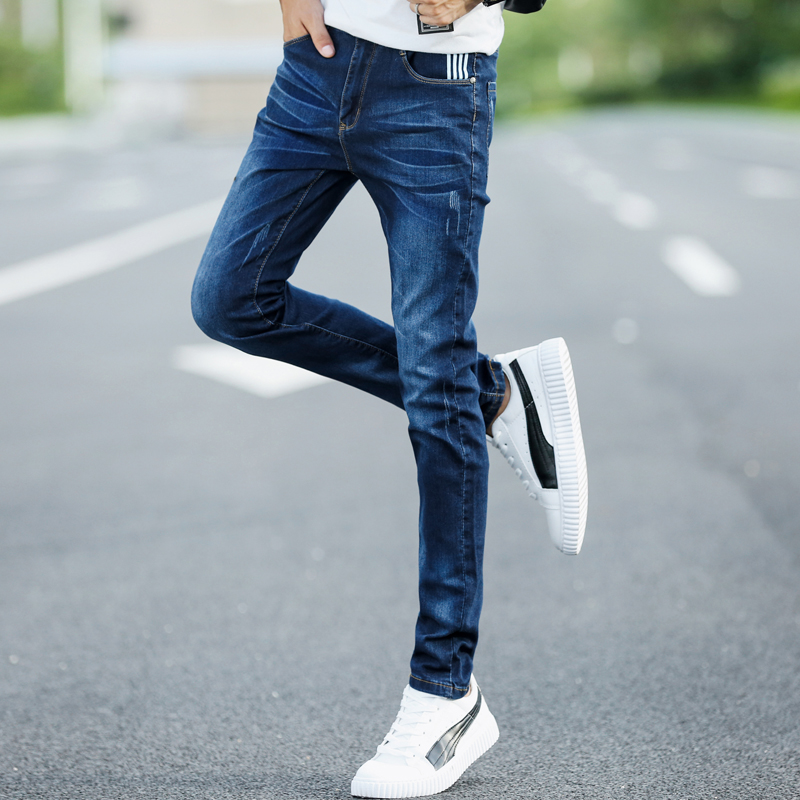 Solid Color Stretch Slim Mans Jeans