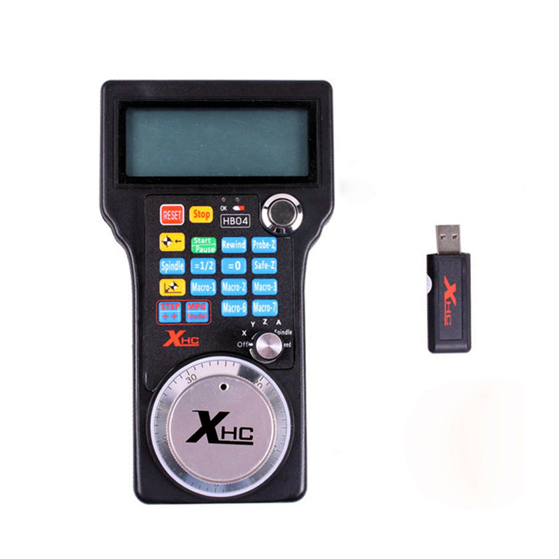Wireless USB MPG Pendant Handwheel For CNC Mach 3 4 axis Controller engraving machine remote control handwheel mach3 mpg usb wireless handwheel for cnc 3 4 axis controller milling machine a545a