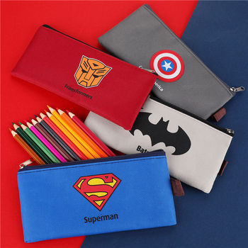 1 PC Creative Fabric School Pencil Cases Bags Cute Cartoon Canvas Pen Box Pouch Student Pencilcase Stationary Supplies 04849