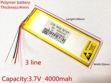 3 linha 3.7v, 4000mah (bateria de íon de lítio de polímero) bateria de íon de lítio para tablet pc 7 polegadas 8 polegadas 9 polegadas 4050140 frete grátis