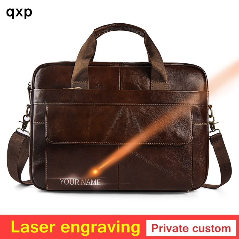 Hommes huile cire en cuir véritable mallette d'affaires sacs à main sacs à bandoulière hommes voyage ordinateur portable sac à bandoulière Messenger sacs fourre-tout