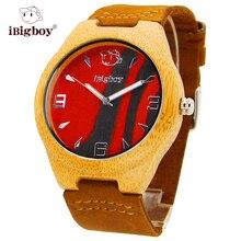 CALIENTE de Lujo Relojes Hombres de Cuarzo de Madera De Bambú De Madera Del Reloj Para Hombre Relojes Del Deporte Para Mujer de Cuero Genuino Reloj de Los Regalos de Navidad