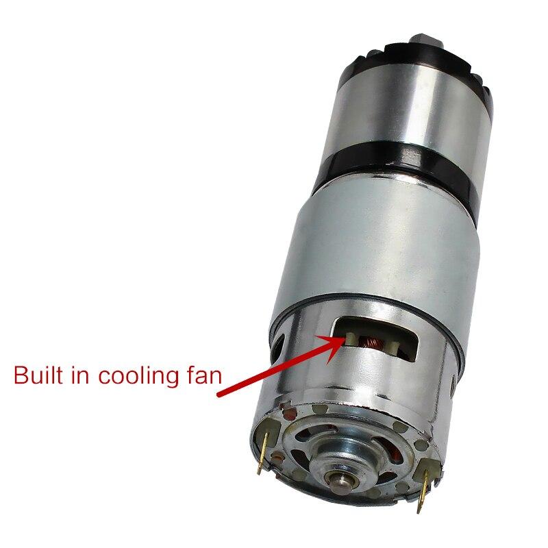 YIMAKER 775 DC 12V/24V 1:125 Permanent Magnet Planetary Gear Motor 42mm Reduction Ratio DC micro motors