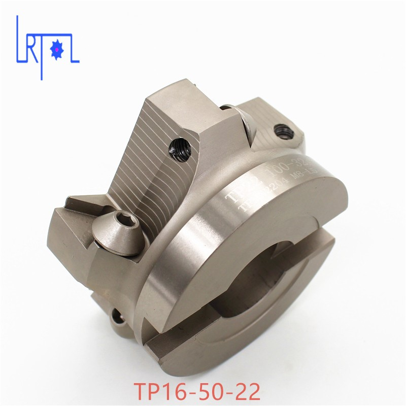 2PCS TP16-50-22 90 Degree Right Angle Shoulder Face Mill Head CNC Milling Cutter,milling cutter tools,carbide Insert TPMN1603 цена