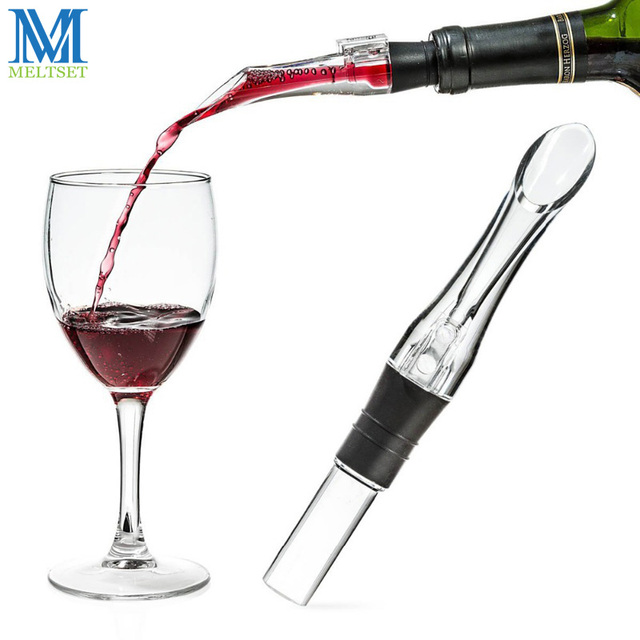 Meltset 1 PC Acrílico Decanter Aerating Pourer Vinho Aerador Pourer Vinho Aerador Pourer Bico Novo Portátil Acessórios de Vinho