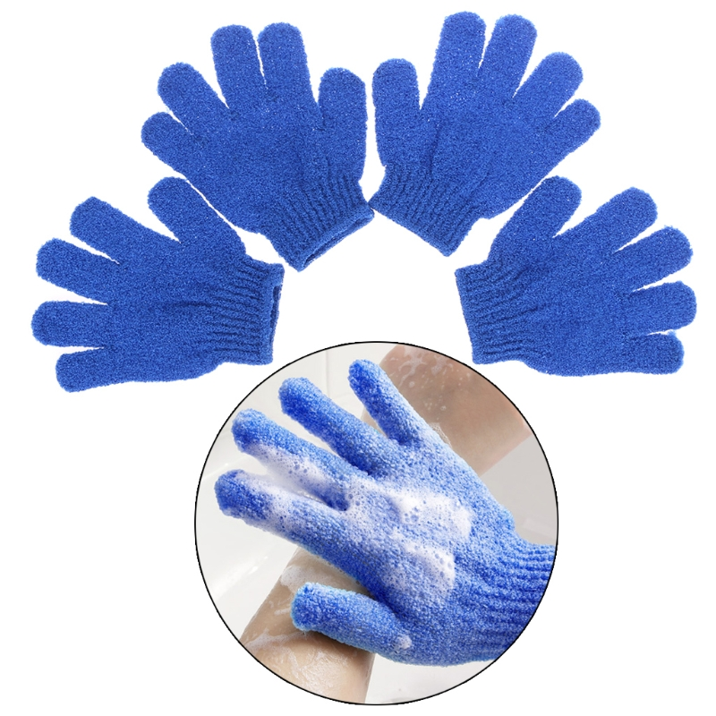 Bath Hearty 4pcs Exfoliationg Gloves Bath And Shower Cleansing Smooth Soft Face Legs Body Hot Seling Beauty & Health