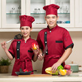 Soft and comfortable short sleeve cotton colorfast and shrink resistant chef jacket uniform for chef cook baker