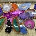 Смешанные цвета Агат Drusy, подвеска, природный, фрагмент Агата, бисер 10 шт. / набор