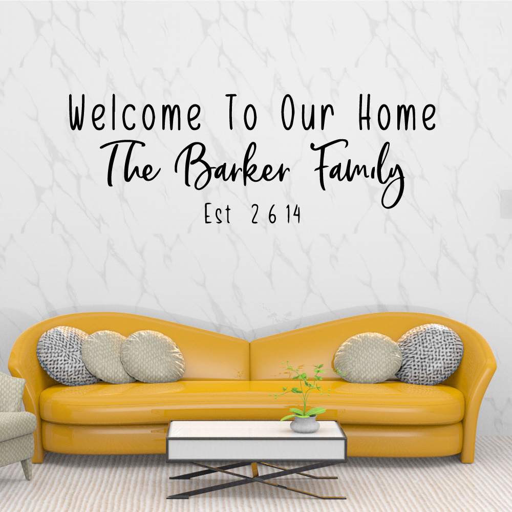 Cute Barker Family Removable Pvc Wall Stickers Decals Diy Home Decoration Accessories Bedroom
