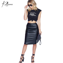 New Fashion Clothes Woman Skirts 2017 Female Sexy Clothing Spring Summer Punk High Street Stylish Black Bodycon PU Leather Skirt