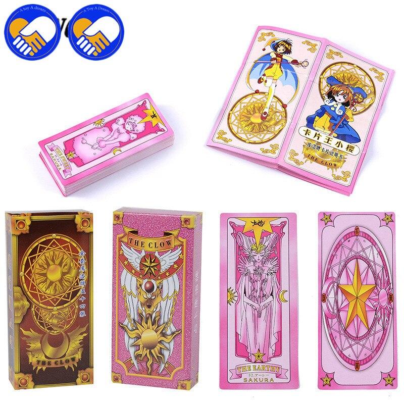 Wholesale Magic Sakura Cards Captor Sakura 55 Pieces Game Cards With Pink Clow Magic Book Set New in Original Box
