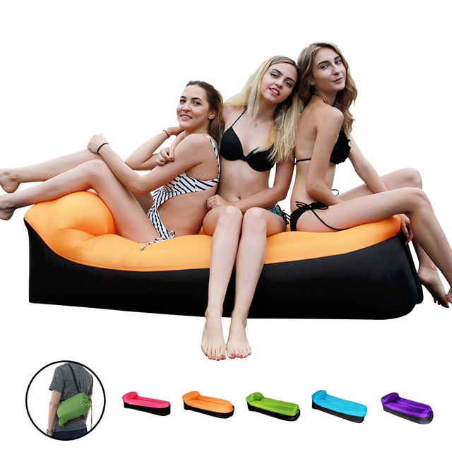 Inflatable Lounger Air Sofa Portable Waterproof Couch for backyard Lakeside Beach Traveling Camping Picnics Music Festivals 1
