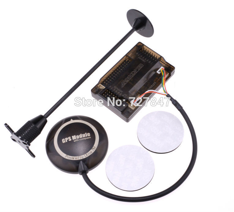 APM2.6 APM Flight Controller Ublox NEO 7M GPS Compass w/ Foldable Stand Amount with Sticker