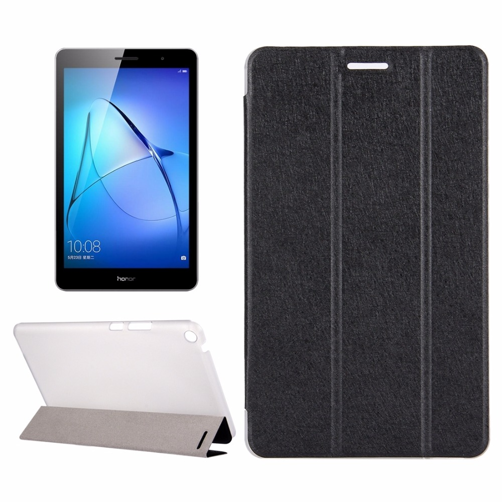 Huawei MediaPad T3 8 inch Silk Texture Horizontal Flip Leather Case with 3-folding Holder for Huawei MediaPad T3 8 inch for huawei mediapad t3 8 inch glass for huawei mediapad t3 9 6 inch m3 8 8 4 10inch m5 8 4 10 8inch tablet screen protector