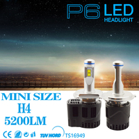 NEW P6 H4 55W car replacement Headlight LED 10400LM Auto parts Lamp 3000K 4000K 5000K 6000K for MZ Car LED CHIP Cheap Price!