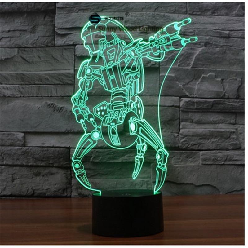 Destroyer Star Wars switch LED 3D lamp ,Visual Illusion 7color changing 5V USB for laptop, desk decoration toy lamp