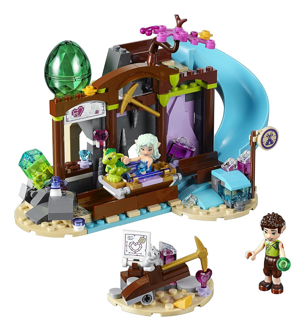 BELA Elves Series The Precious Crystal Mine Building Blocks Classic For Girl Kids Model Toys Marvel Compatible Legoe