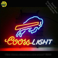 Neon Sign for Sports Team BB Coors Light neon bulb Sign Beer Bar Pub Neon lights Sign glass Tube Iconic Advertise Night Light