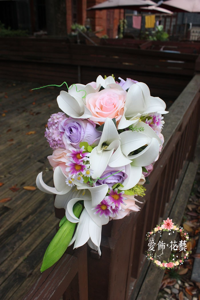bouquet de mariee blanc rose 3